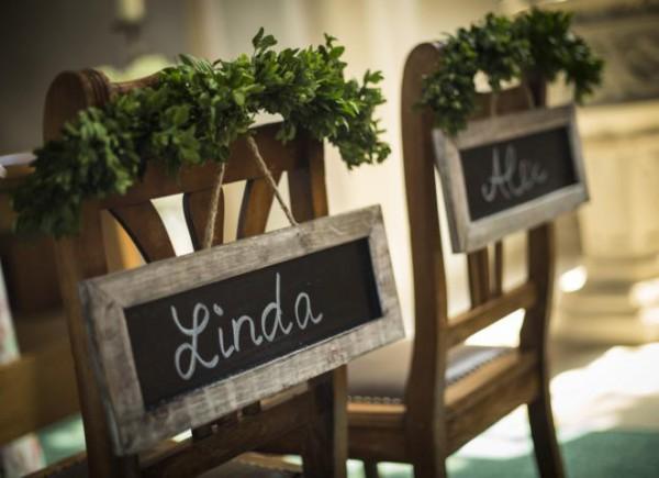 Stühle für das Brautpaar